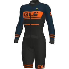 Alé Cycling PRS Fango Combinaison manches courtes Homme, black-petrol-fluo orange